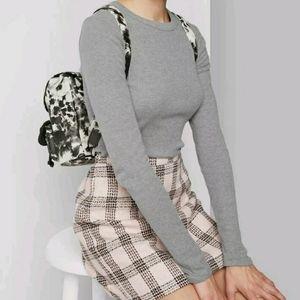 Women's Long Sleeve Crewneck T-Shirt Heather Gray